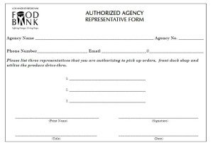Authorized Representative Form