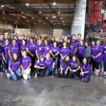 Group of volunteers at the Food Bank's studio day 2018