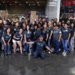 Group of volunteers at the Los Angeles Regional Food Bank's studio day 2018