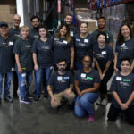 Volunteer group at the Food Bank's studio day 2018