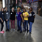 Volunteers at the Food Bank's studio day 2018