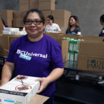 NBC Universal volunteer at the Food Bank's studio day 2018