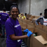 NBC Universal volunteer at at the Food Bank's studio day 2018