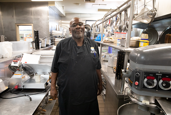 David Thomas in his kitchen at the LA Mission