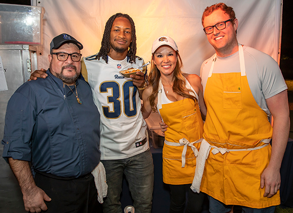 Todd Gurley and Chefs at Taste of the Rams