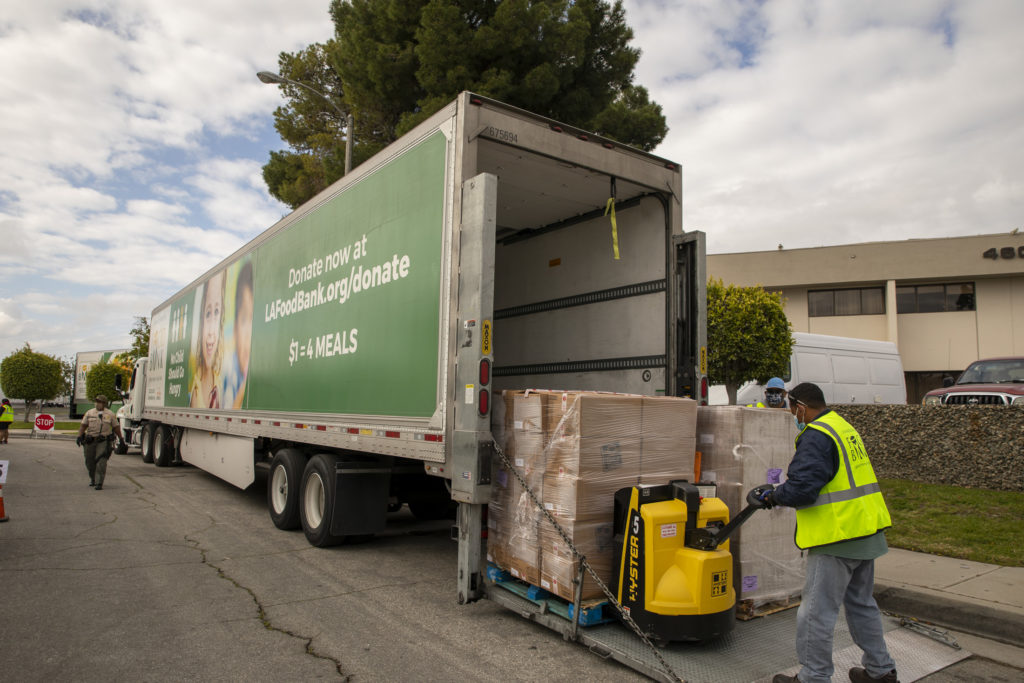 food distribution in Carson