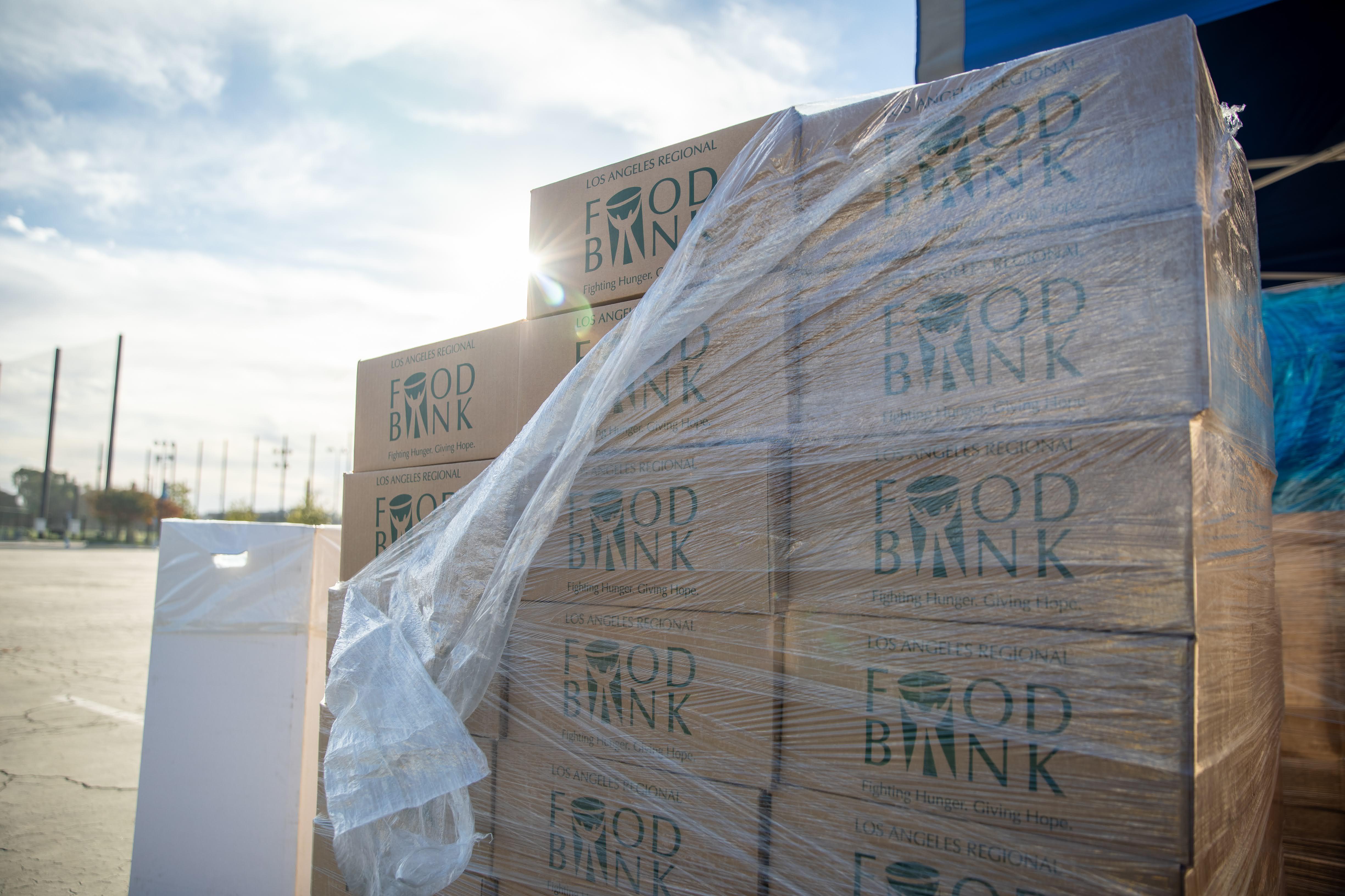 Santa Anita Race Track Free Food Distribution