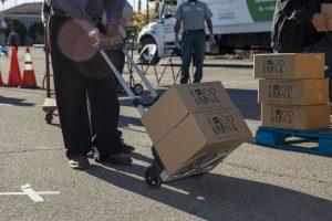 walk-up food distribution