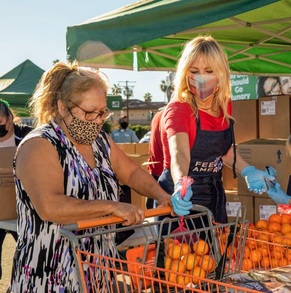 Milan Akerman at LA Regional Food Bank