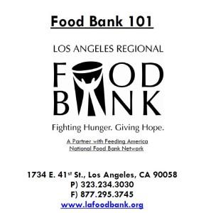 Foodbank 101