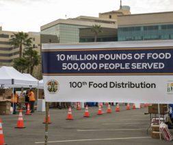 100th food distribution