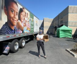 Jeanne Delivers Baked Goods to Food Bank