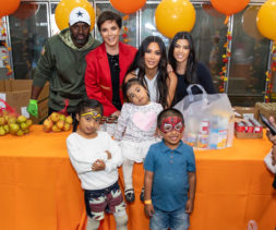 Kardashian Jenner Family at LA Regional Food Bank