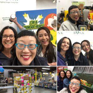 Paula Yoo volunteering