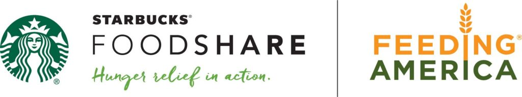 Starbucks FoodShare and Feeding America Logo