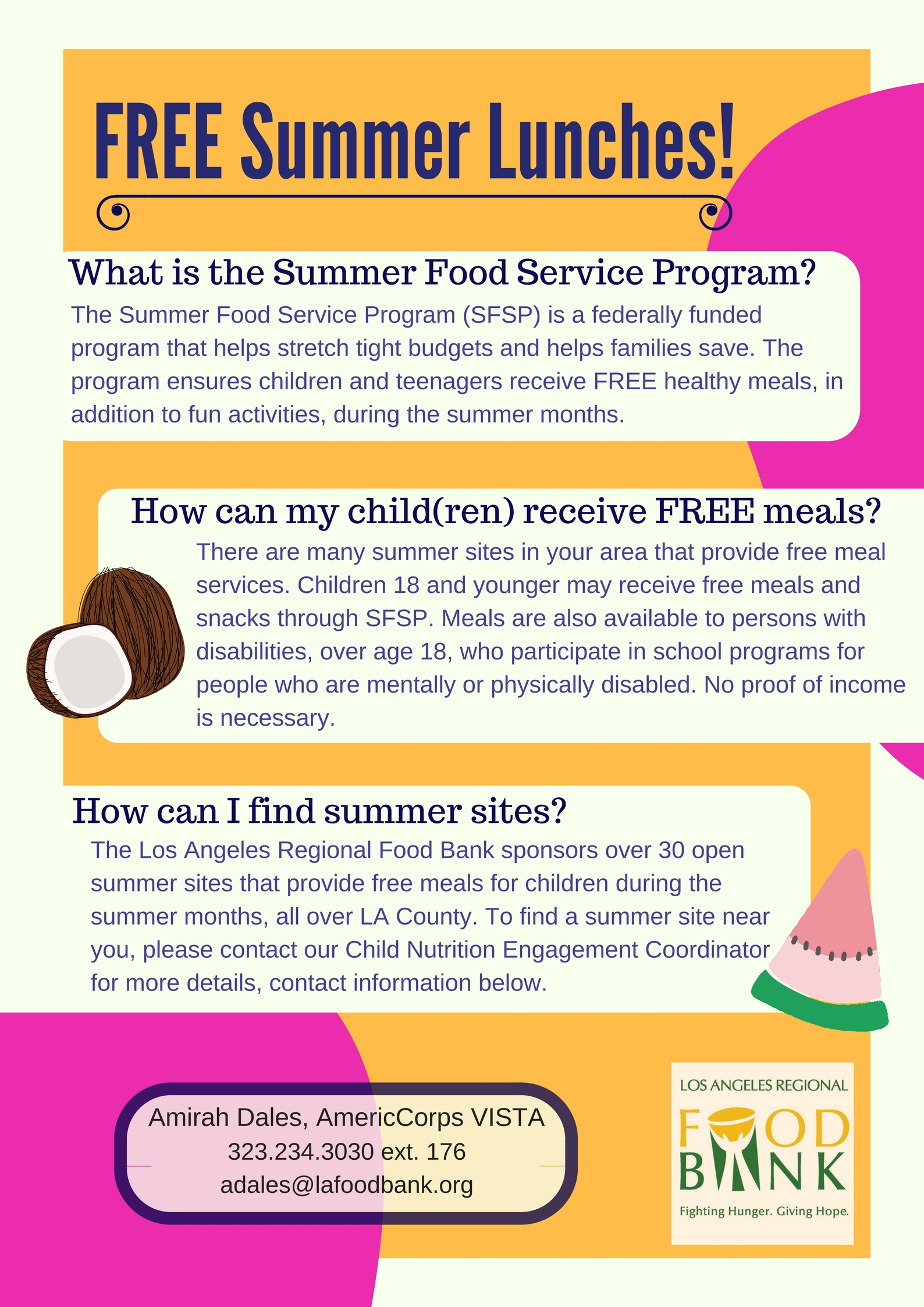 Free Food Programs In Orange County